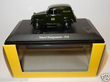 UH UNIVERSAL HOBBIES SIMCA 5 FOURGONNETTE 1938 POSTES POSTE PTT 1/43 IN LUXE BOX