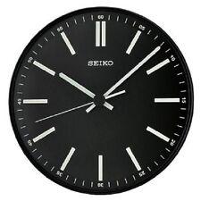 *BRAND NEW* Seiko Round Black Wall Clock QXA521JLH