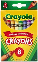 Crayola Classic Color Crayons 8 Assorted Colors Non-washable for children of all