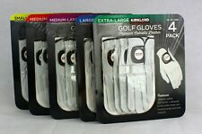 Kirkland Men's Golf Gloves Premium Cabretta Leather 4 Pack Free Shipping S-XL