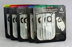 Kirkland Men's Golf Gloves Premium Cabretta Leather 4 Pack Free Shipping S-XL