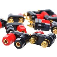 Binding Post Dual Adapter Terminal Speaker Amplifier Banana Jack Audio Plug