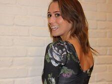 Lululemon Scoop Back Long Sleeve Garden Party Floral Shirt Top Sz 6 RaRe
