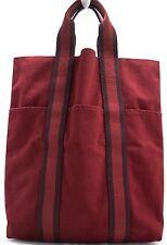 HERMES Fourre-Tout Tasche Hand Bag Handtasche aus Stoff Henkeltasche Canvas RARE