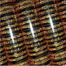Gold Music Chocolate Transfer Sheet
