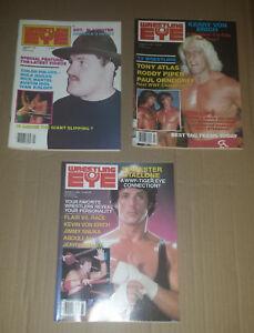 Vintage Wrestling Magazine Lot Wrestling Eye & Wrestling Training, 5 issues