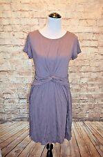 Modcloth Whole New Whorl Dress NWOT L  lavender Knit soft purple Fervour knotted