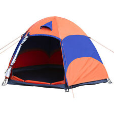 3-4 Person Instant Cabin Tent Hexagon Tents Outdoor Camping Shelterking Camping