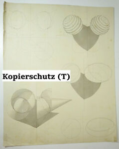Technique Dessin à Main Cubisme Géometrie Formes Déco Dessin Drawing 1900er
