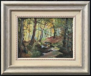 20th Century South American School Landscape Oil Painting. Signed.