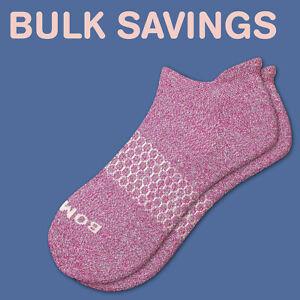 Fuchsia Bombas Women's Ankle Socks Classic Marls Honeycomb Medium NWT
