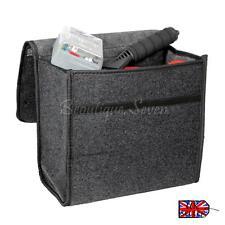 Car Grey Carpet Boot Organiser Small Travel Tidy Breakdown Tool Storage Bag