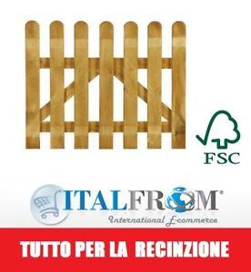 Cancelletto in Legno con Doghe di Pino per Steccato L 100cm x H 80cm Italfrom