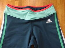 ADIDAS Climalite 3/4 Tight Laufhose Sporthose blau grün Gr. XS -TOP-
