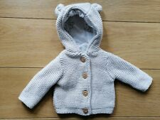 Tiny Baby Beige MOTHERCARE Cotton Knit Cardigan Jacket 5lbs Premature Baby