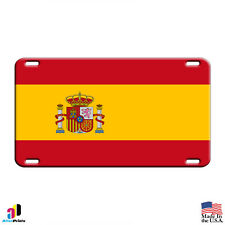 Spain Flag Country Flag Aluminum Metal Novelty License Plate Tag
