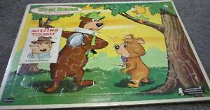 Yogi Bear Missing Tourist 1963 Vintage Frame-Tray Puzzle Whitman