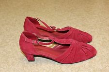 Sexy Red  Angel Steps Shoes Heals  8.5 Wide  8 1/2  W Faux Leather High Man Made