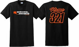MOTOCROSS REQUIRES BALLS T SHIRT JUST RIDE NAME NUMBER MOTO MX YZ KX KTM YZ CR 9
