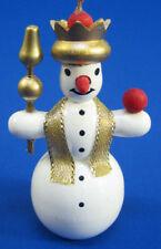 Snowman Crown Christmas German Ornament ORR133X42CRN