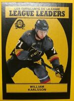 2018-19 O-Pee-Chee League Leaders Black Parallel #593 William Karlsson 075/100
