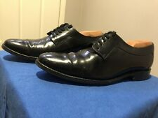 Men's Loakes Black Leather Derby Dress Shoes, Handmade in England, UK 7