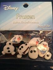 **DISNEY BUTTONS - OLAF FROZEN (PACK OF 9)**