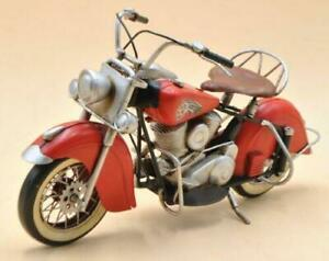 Metal Material Red Harley Davidson Indian Motorcycle Model Use Decorative Figure