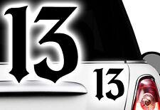 1x 13 Aufkleber Oldschool Karten Ass Devil Pik Retro Motorrad Rock a Billy Blatt