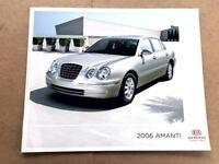 2006 Kia Amanti Original Canada Sales Brochure Catalog