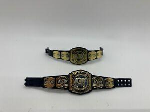 AEW World Tag Team Championship Figure Belt Lot of (2) Jazwares Wrestling WWE