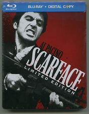 SCARFACE * AL PACINO * LIMITED EDITION * STEELBOOK * BLU-RAY * NEW & SEALED