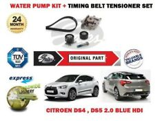 FOR CITROEN DS4 DS5 2.0 BLUE HDI 16V 2013-2015 WATER PUMP + TIMING CAM BELT KIT