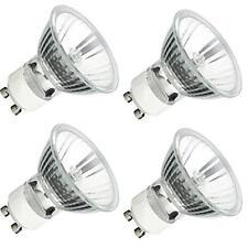 4 Bulbs New GU10 Base 50W MR16 120v Halogen Twist Lock Dimmable Glass Cover