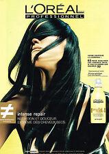 PUBLICITE ADVERTISING 045  2000  L'OREAL PREOFESSIONNEL INTENSE REPAIR série EXP