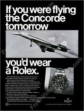 Rolex GMT Master watch Concorde plane flying photo 1960s ad new poster 18x24