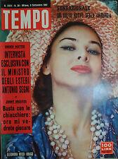 TEMPO N°36 /9.SET.61 ELEONORA ROSSI DRAGO-VOKO TANI e SUO MARITO ROLAND LESAFFRE