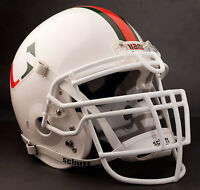 RAY LEWIS MIAMI HURRICANES Schutt RJOP-UB-DW Football Helmet FACEMASK - WHITE