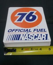 """Lot of 100 Vintage 5"""" x 6.25"""" 76 OFFICIAL FUEL OF NASCAR Racing Stickers Decals"""