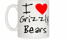 I Love Cuore GRIZZLY Bears TAZZA