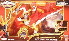 Power Rangers Mystic Force Action Dragon With Flapping Wings & Red Ranger & DVD