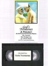 3 BLACK Poems GODS TROMBONES VHS Video THE CREATION +