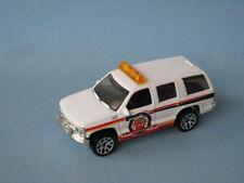 MATCHBOX CHEVROLET TAHOE corps blanc chef des pompiers voiture modèle jouet