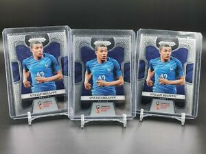 Lot of 3 2018 Prizm World Cup Base Kylian Mbappe