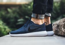 NIKE ROSHE TWO FLYKNIT Running Trainers Shoes Gym Casual  UK Size 7 (EU 41) Navy
