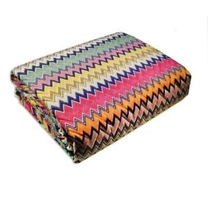 Missoni Home TIMOTHY double quilted bedspread chevron Percale