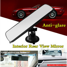 Wide Flat Interior TPU Sucker RearView Mirror For Car Front Windshield Dashboard