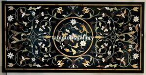 """23""""x45"""" Marble Designer Arts Dining Table Top Jasper Marquetry Inlay Décor B054A"""