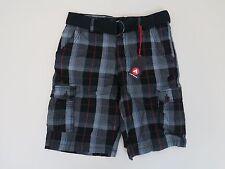Airwalk Belted Plaid Shorts - Boys Size 16 - NWT