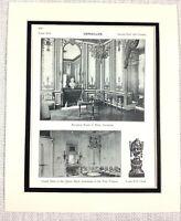 1903 Antico Stampa The Palazzo Di Versailles France Marie Antoinette Grand Salon